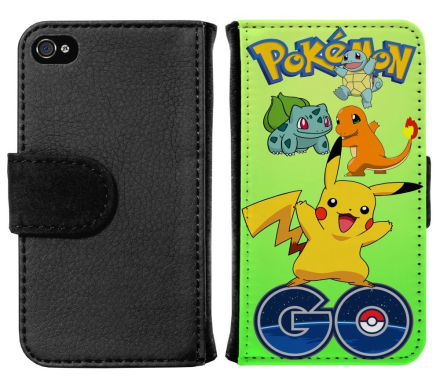 Apple iPhone 4 / 4s Plånboksfodral Pokemon Go - CDON.COM