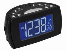 Clockradio med LCD-projector Denver Electronics 224810 Sort