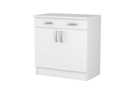NOVA Kjøkkenskap Benk 80 Hvit -
