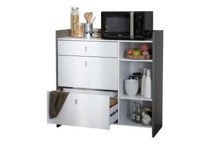 BASILIKA Kjøkkenoppbevaring 106 Hvit/Grå -