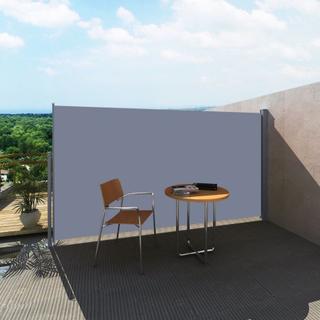 vidaXL Uttrekkbar sidemarkise 180 x 300 cm grå