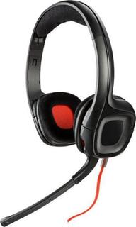 Hovedtelefoner med mikrofon Plantronics 222556 40 mm Sort Rød