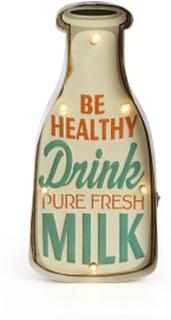 Retro Drink Milk skilt med lys