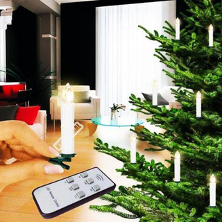 Trådløs juletræslys med fjernbetjening