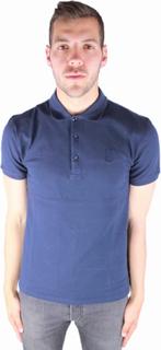 Versace kollektion V800499S VJ00068 V410 Polo Shirt Navy blå