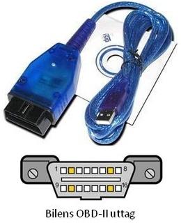 Felkodsläsare VAG-COM KKL 409.1, OBD2-kabel