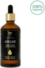 Cosmos Co - Økologisk Jomfru Argan Olie i Glasflaske (100 ml)