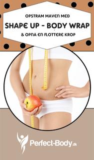Shape Up Body Wrap - Slip af med Appelsinhud - Stor - Til maven