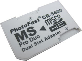 MS Pro Duo Adapter för 2 x MicroSD