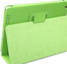 Lædertaske /-holder til iPad 2/iPad 3/iPad 4. Grøn.