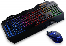 HAVIT HV-KB558CM Gaming Keyboard og Mus samlepakke (LED Regnbue)