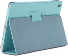 Lædertaske /-holder til iPad 2/iPad 3/iPad 4. Lyseblå.