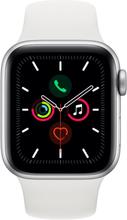 Apple Watch Series 5 GPS - 44mm Silber Aluminiumgehäuse mit Weiß Sportarmband
