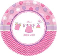 Baby Shower It's a Baby Girl Tallrikar XL