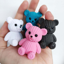 Mini Teddy Resin Bear Accessories Doll House Decoration Miniature Bear Model Dollhouse Toys For Kids Baby Shower Party Toys Gift