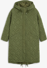 Oversized quilted parka coat - Green