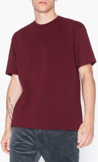 Topman Burgundy Oversize T-Shirt T-shirts & undertrøjer Burgundy