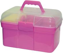 Kerbl Ryktlåda mini med 8 ryktsaker rosa 321766