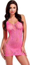 Lapdance: Leopard Lace Mini Dress, rosa