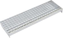 vidaXL Trappsteg 4 st press-låst galvaniserat stål 1000x240 mm