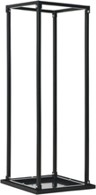 vidaXL Vedställ med bas svart 37x37x113 cm stål