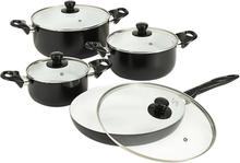 vidaXL Köksset 8 delar svart aluminium