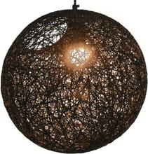 vidaXL Roikkuva lamppu musta pallo 35 cm E27