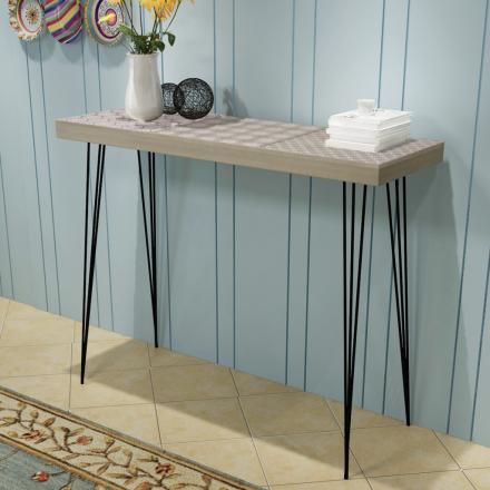 vidaXL Konsolipöytä 90x30x71,5 cm harmaa