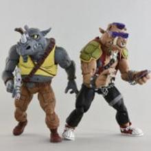 NECA Teenage Mutant Ninja Turtles Cartoon Series Rocksteady and Bebop Action Figures 2 Pack