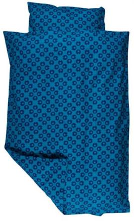 """Økologisk Baby sengetøj - Freds World - 70x100 cm - """"My I"""" blå - Home-tex"""