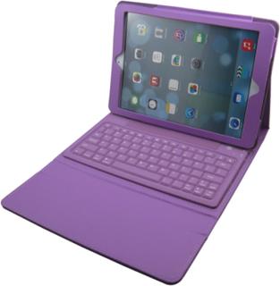 iPad Air-fodral med inbyggt tangentbord (Lila)