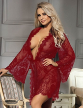 Red Lace Sleepwear Gown