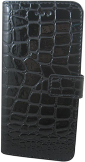 Plånboksväska för iPhone 6 Plus, Krokodil (Svart)