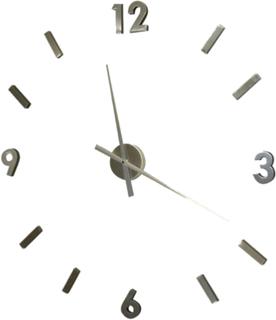 Väggklocka silver 60cm STOR lösa siffror bygg själv
