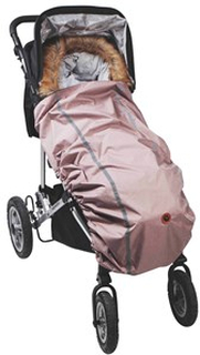 Easygrow Universal Vindskydd Till Barnvagn Rosa