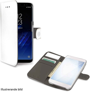 Celly Wallet Case Samsung Galaxy S9+, vitt och svart