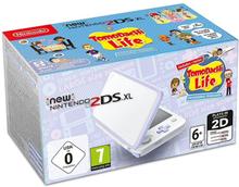 New Nintendo 2DS XL White + Lavender + Tomodachi Life /Nintendo 3DS