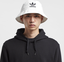 adidas Originals Trefoil Bucket Hat, vit