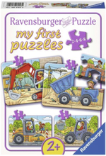 My First Puzzles - Construction vehicles 4in1