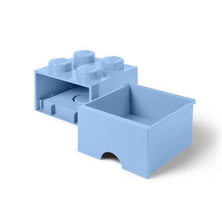 LEGO, Förvaringsbox 4 med lådor, light royal blue