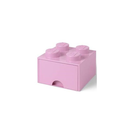 LEGO, Förvaringsbox 4 med lådor, light purple