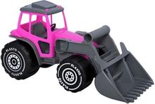 Plasto, Traktor med skopa - Rosa