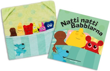 Teddykompaniet Babblarna, Paket med bok & godnattleksak - Natti natti Babblarna