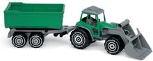 Plasto, Traktor med frontlastare & släp blå