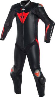 Dainese Mugello R D-Air Ett stycke motorcykel Airbag läder kostym Svart Röd 48