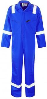 Dickies Wd5050 Pyrovatex Firechief Hej Vis Royal blå Coverall Reg ben