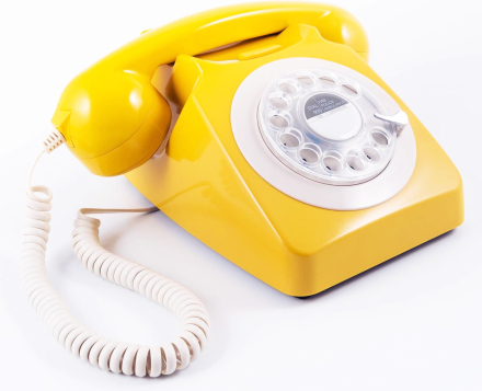 GPO 746 Modern Telefon med Snurrskiva - Gul