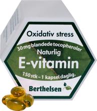 Berthelsen Vitamin-E + Tocopherol 30 mg 150 stk
