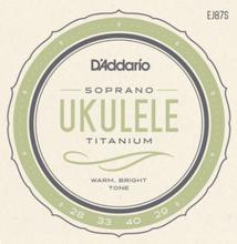 Daddario EJ87S Soprano Ukule String Set
