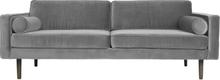 Wind 3-sits soffa drizzle (grå)